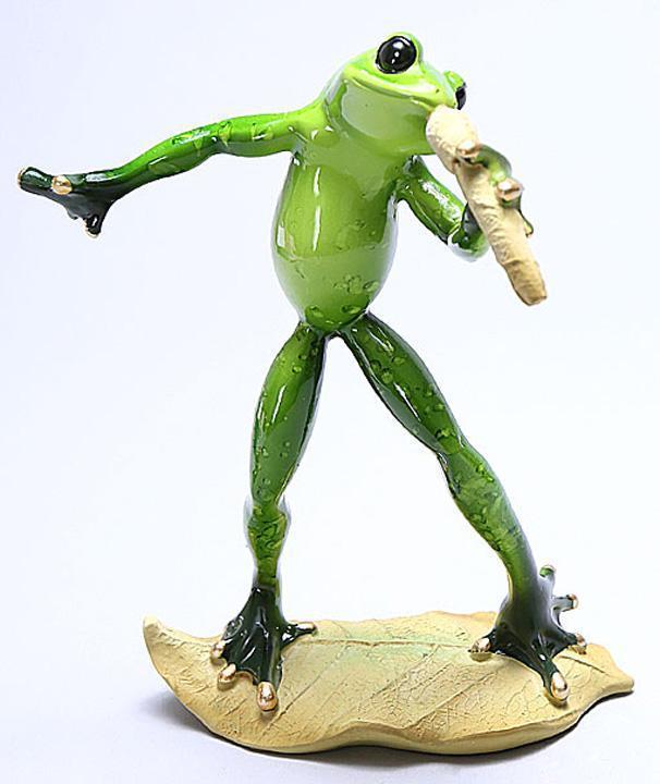 Статуэтка декоративная Bona Лягушка Соло 17.5 см Зеленый (psg_BD-238-F43)