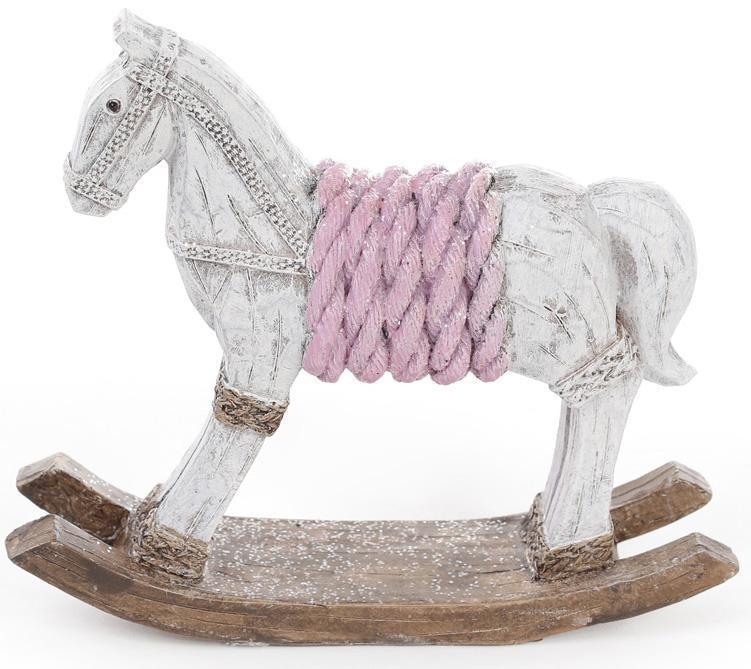 Статуэтка декоративная Bona Лошадка-качалка 17.5 см Розовый (psg_BD-711-220)