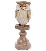 Декоративная статуэтка Bona Сова на веточке 8.8 х 8.8 х 25.5 см Коричневый (psg_BD-218-531)