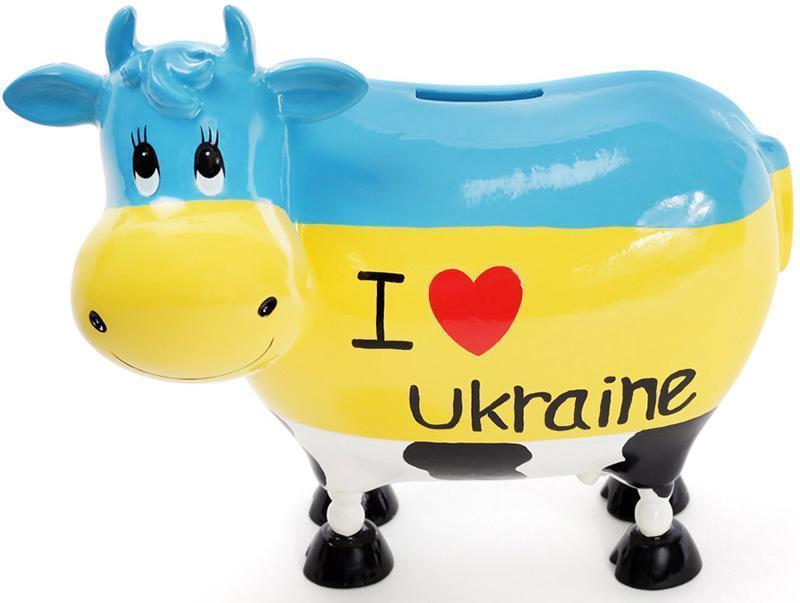 Копилка-коровка Bona I love Ukraine керамическая (psg_BD-504-138)