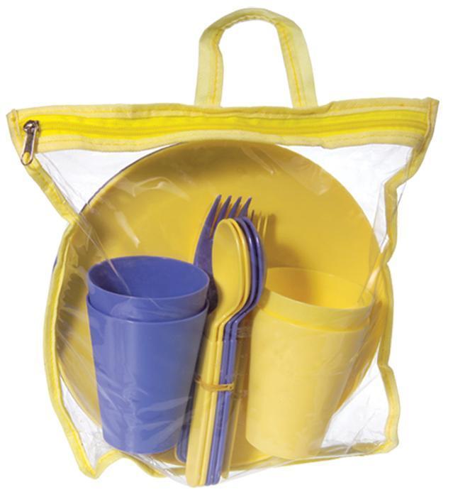 Набор для пикника Ucsan на 4 персоны 20 предметов в сумке (psg_M-759)