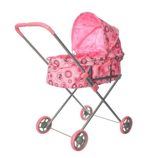 Коляска для куклы Kronos Toys 9308 Розовая (int_9308)