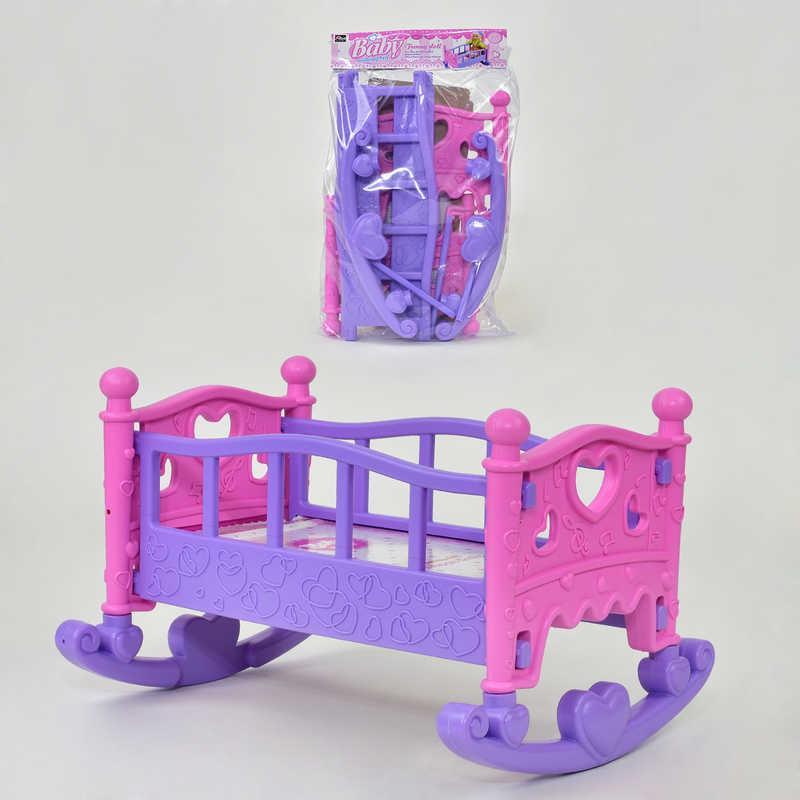 Кроватка для кукол 889-194 Фиолетово-розовая (2-889-194-64065)