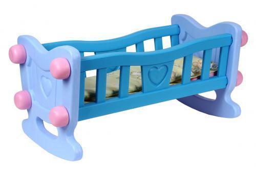 Кроватка для куклы ТехноК 4197 с постельным бельем Голубой (2-4197-57292)
