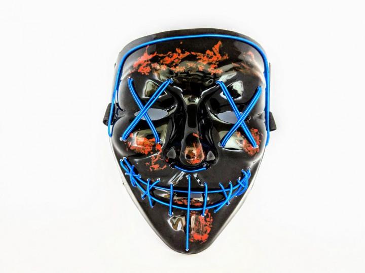 Неоновая маска Purge Mask из фильма Судная ночь Синий (372712)