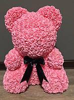 Мишка из 3D роз 40 см Розовый (3025405), фото 1