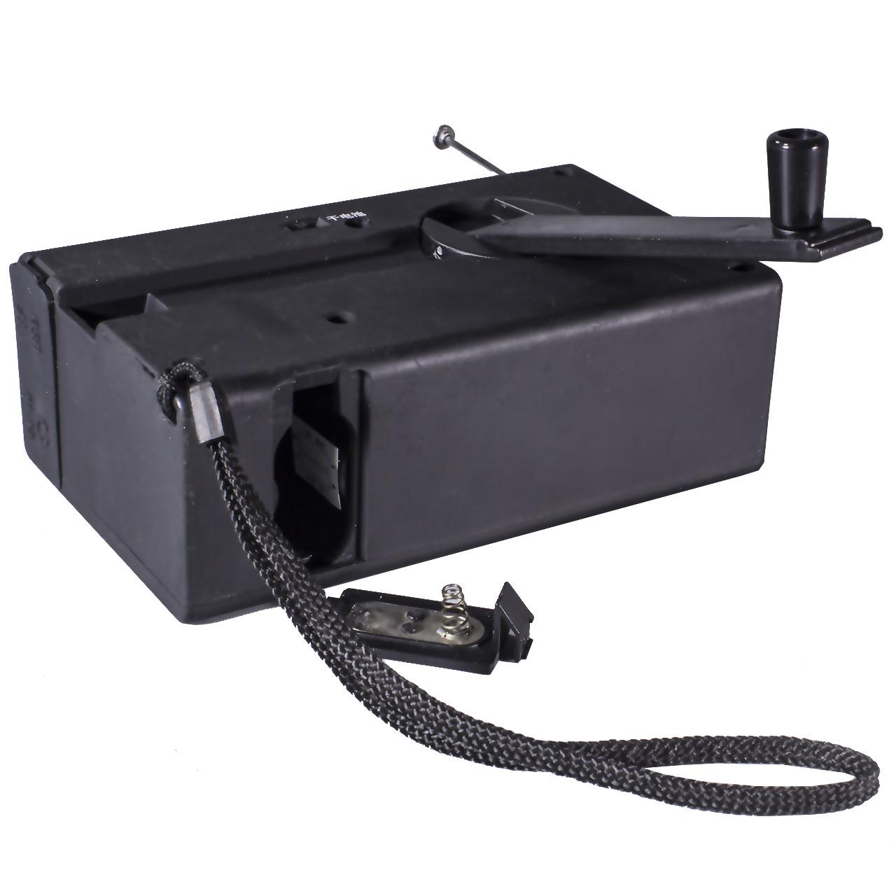 Фонарь Haoyi HY-018 с динамо радио USB micro SD Black (1640-5790а)
