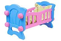 Колыбель для куклы ТехноК 4173 Розовый с синим (222381)