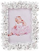 Фоторамка Bona Sweet White Розы 9 х 13 см Белая (psg_BD-493-714)