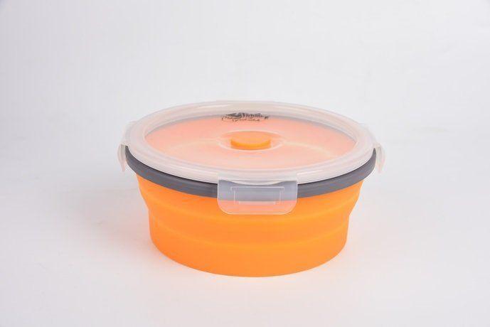 Контейнер складной с крышкой-защелкой Tramp 800 мл TRC-087 Оранжевый (gr_008768)