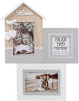 Фоторамка-коллаж Enjoy Moment HOME панно настенное на 3 фото (psg_BD-493-712)