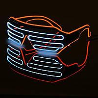 Очки светодиодные El Neon spiral неоновые red ice Blue (902882050)