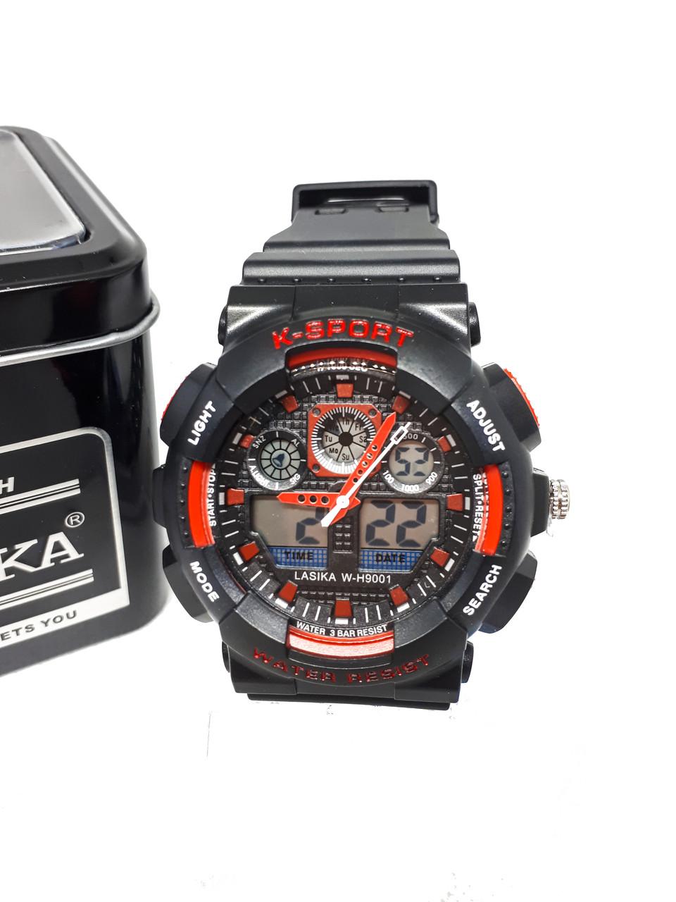 Двойные электронно-кварцевые часы K-SPORT Adjust Черные (KS75033R)