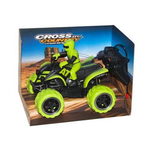 Квадроцикл на радиоуправлении Toysi Cross Country Зеленый (TOY-43330)