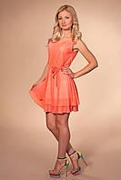 Молодежное летнее платье короллавого цвета