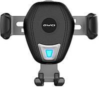 Автодержатель AWEI CW2 Wireless Car Holder Black (86276), фото 1