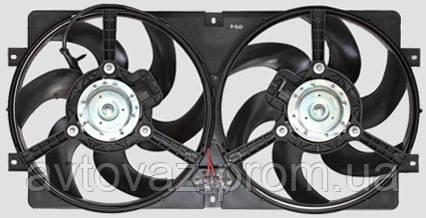 Электровентилятор радиатора, мотор охлаждения ВАЗ 2123 Нива Шевроле в сборе с диффузором 6лоп. ВАЛЕ