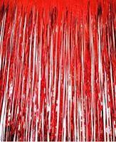 Шторка занавес из фольги для фото зон красная 1х2 метра