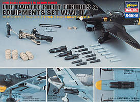 WWII German Pilot Figures & Equipment. 1/48 HASEGAWA 36009