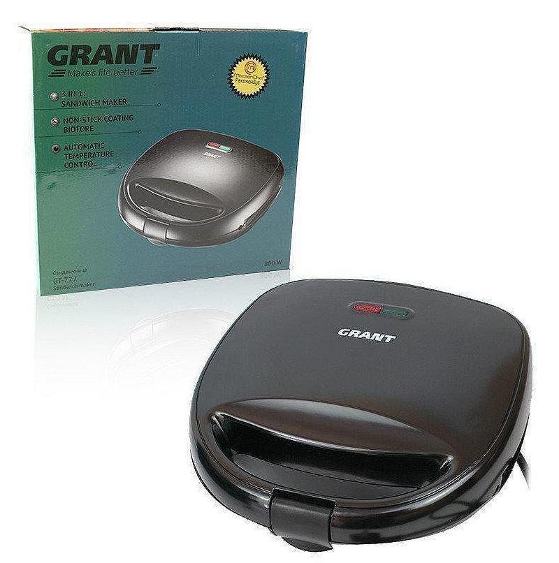 Гриль, бутербродница, вафельница Grant Gt-777, 800 Вт