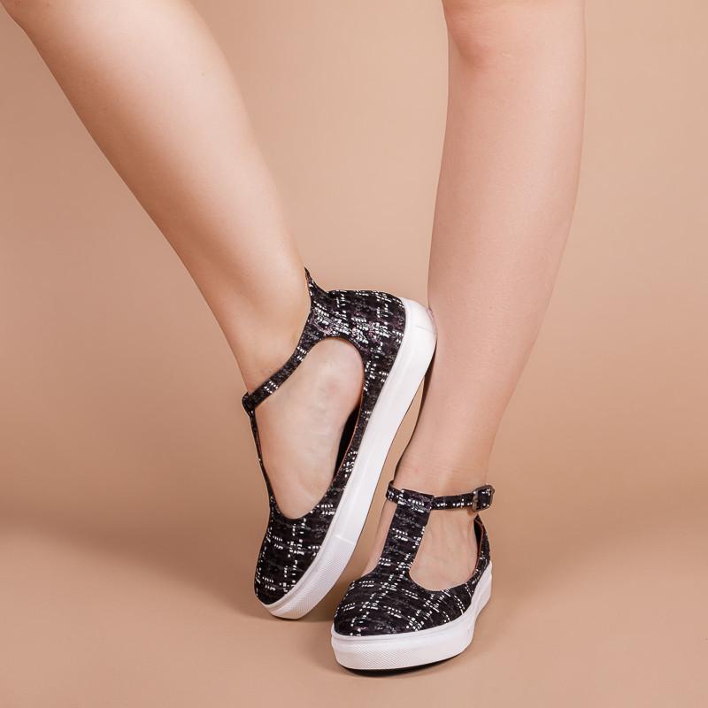 Женские туфли на плоской толстой подошве. Цвет кожи навыбор