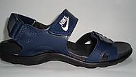 Подростковые сандалии кожаные на липучке.
