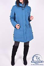 Пальто женское из плащёвки зимнее (цв.зеленый)  INMYDAQ STYL 906-2 Размер:50,52
