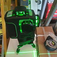 Лазерный уровень 3D зелёный лазер 360 градусов, 12 линий