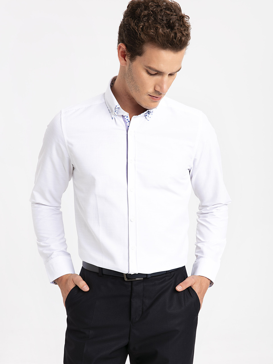 Белая мужская рубашка LC Waikiki / ЛС Вайкики