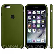 "Чехол силиконовый для iPhone 6 Plus/6S Plus. Apple Silicone Case, цвет ""Хаки"""