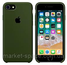 """Чехол силиконовый для iPhone 7/8. Apple Silicone Case, цвет """"Хаки"""""""