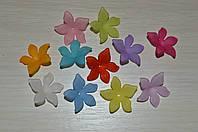 Цветок. бусина, акрил. размер 28 на 7 мм.