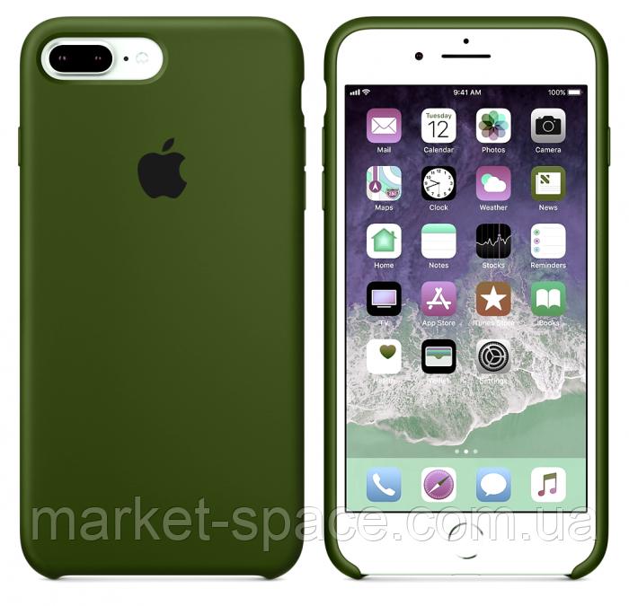 "Чехол силиконовый для iPhone 7 Plus/8 Plus. Apple Silicone Case, цвет ""Хаки"""