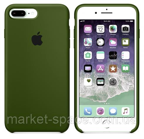 "Чехол силиконовый для iPhone 7 Plus/8 Plus. Apple Silicone Case, цвет ""Хаки"", фото 2"