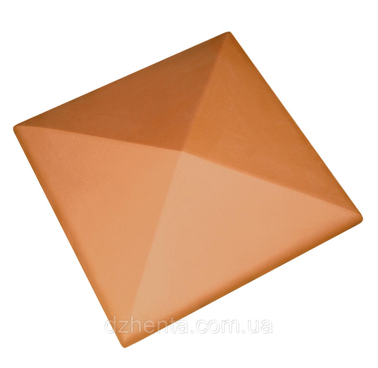 Клинкерная накрывка оранжевая 445*445