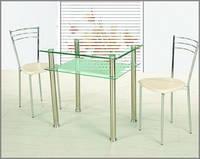 Стол стеклянный С - 2 (кухонный , обеденный)
