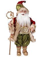 Новогодняя игрушка кукла Санта 46 см, цвет: красный