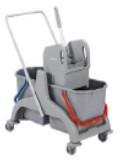 Візок для прибирання з віджимом на 2 відра (2*18л) SCPEC 36 ТМ ДарЄвроХім
