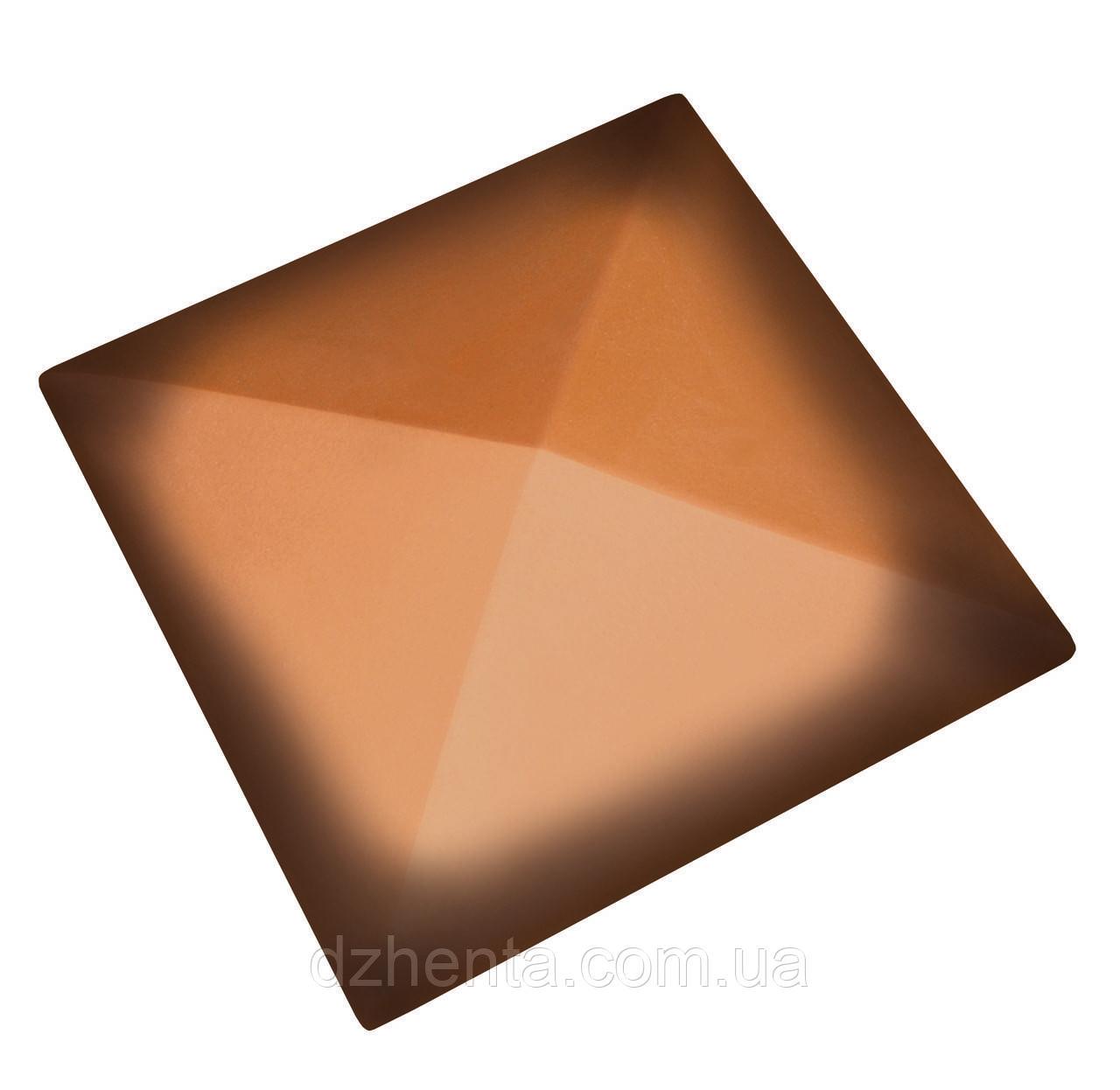 Клинкерная накрывка оранжевая ангоба 445*445