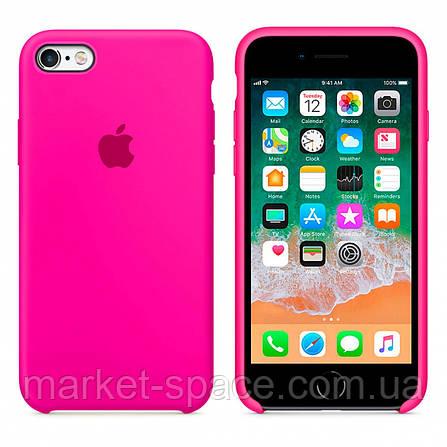 """Чехол силиконовый для iPhone 6 Plus/6S Plus. Apple Silicone Case, цвет """"Неоново-розовый"""", фото 2"""