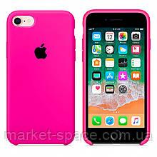"""Чехол силиконовый для iPhone 7/8. Apple Silicone Case, цвет """"Неоново-розовый"""""""