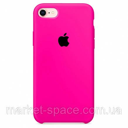 """Чехол силиконовый для iPhone 7/8. Apple Silicone Case, цвет """"Неоново-розовый"""", фото 2"""