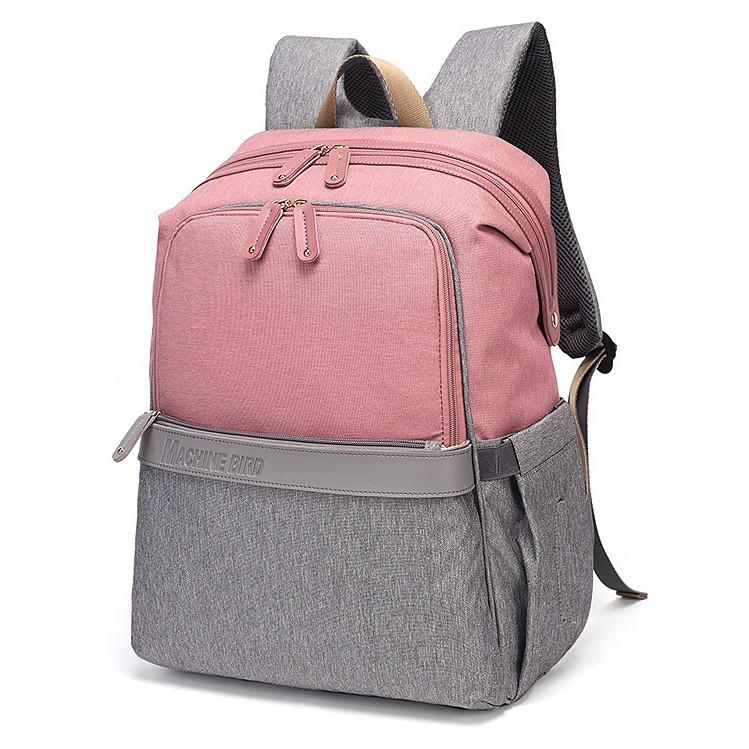 Женский рюкзак-сумка для мам Machine Bird из водоотталкивающей ткани 600D с USB портом, 20л