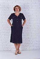 Женское платье свободное в мелкий горошек, фото 1