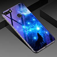Чехол Glass-Case для Huawei Y6 Prime 2018 бампер оригинальный Wolf