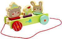 Игрушка Labebe Animal Pull-A-Long Car 12m+ HY1610001