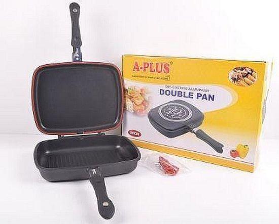 Сковорода для гриля и жарки двухсторонняя с антипригарным покрытием
