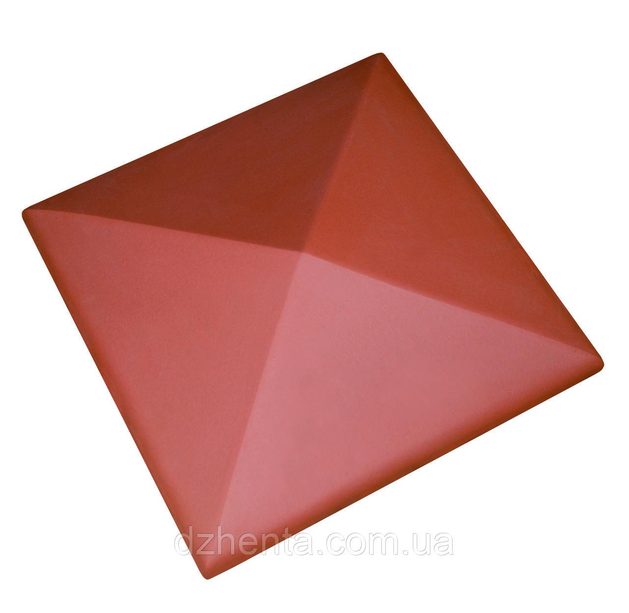 Клинкерная накрывка красная 445*445