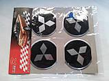 Наклейки на заглушки литых дисков (колпачки) с логотипом mitsubishi (митсубиси), фото 2
