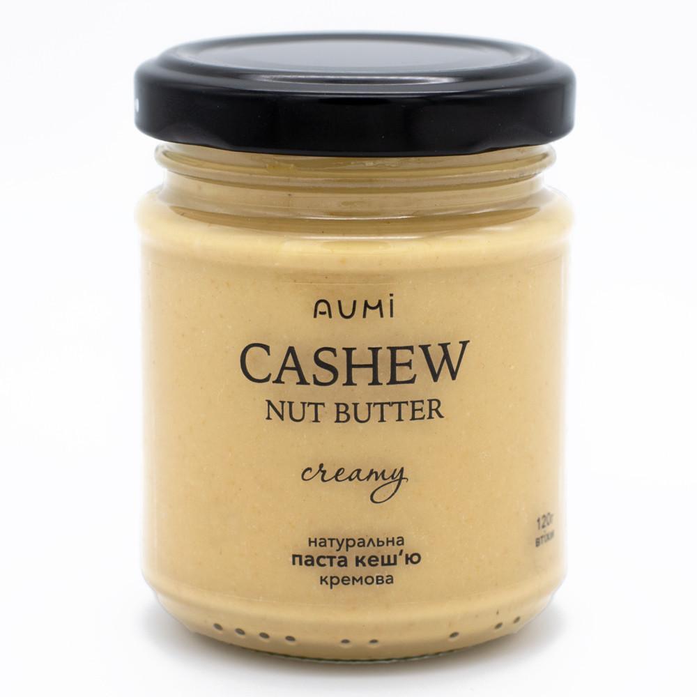 Кешью паста 140г стекло, кремовая текстура, нежный вкус, 100% натуральная, без добавок